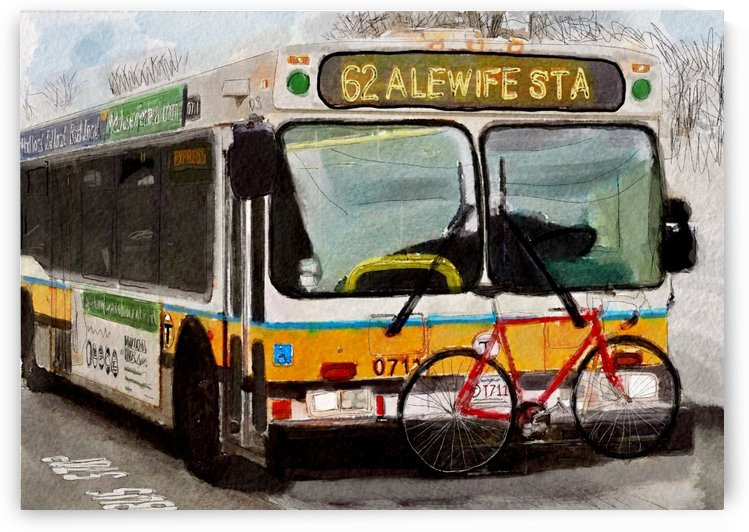 MBTA 62 Bus by Harry Forsdick