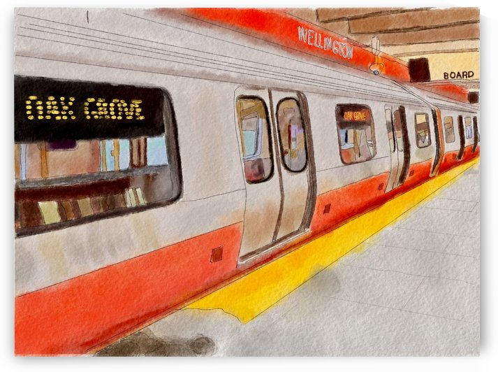 MBTA Orange Line Subway by Harry Forsdick