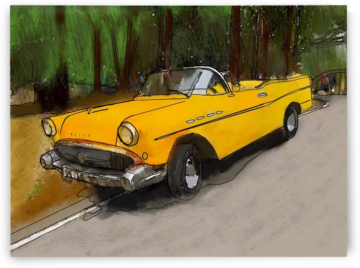 Cuba Yellow Car by Harry Forsdick