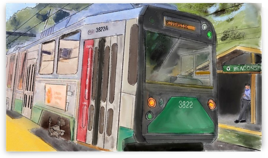 MBTA Green Line Trolly by Harry Forsdick