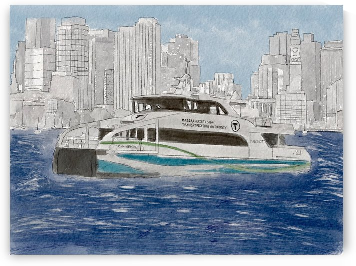 MBTA Hingham-Hull Ferry by Harry Forsdick