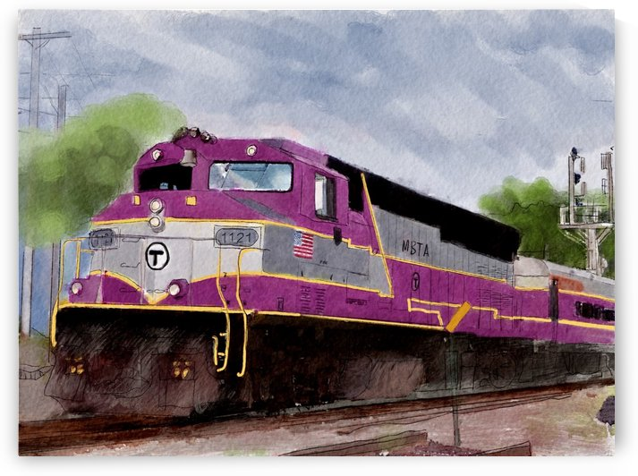 MBTA Commuter Train by Harry Forsdick
