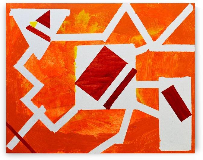 Geometric Orange. Jessica B by The Arc of the Capital Area