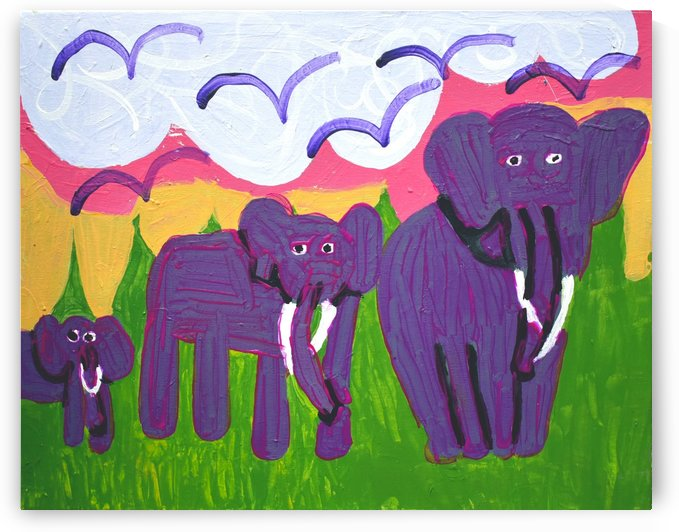 Purple Elephants. Michael D. by The Arc of the Capital Area