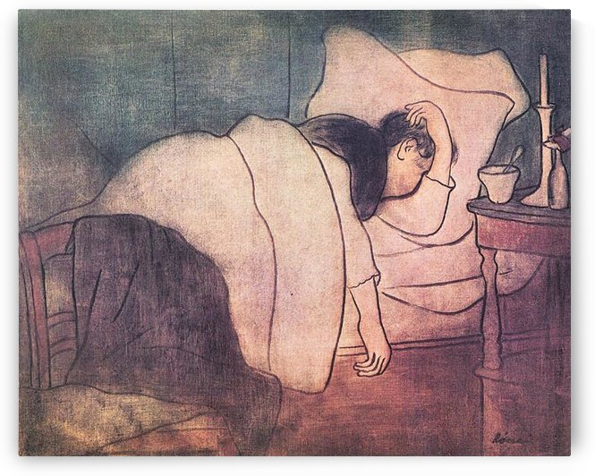 Lady in bed by Joseph Rippl-Ronai by Joseph Rippl-Ronai