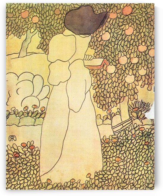 Lady in her garden by Joseph Rippl-Ronai by Joseph Rippl-Ronai