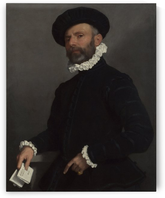 Portrait of a Man holding a Letter ('L'Avvocato') by Giovanni Battista Moroni