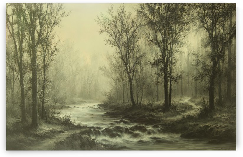 Bridge Over Babbling Brook by Sang H Han