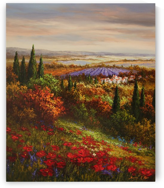 Lavender Twilight by Sang H Han