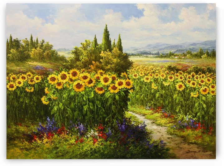 Sunflower Radiance by Sang H Han