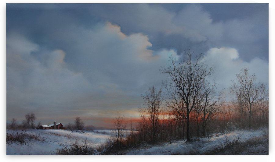 Winter Farm by Sang H Han