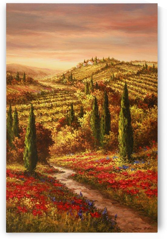 Wildflower Fields by Sang H Han
