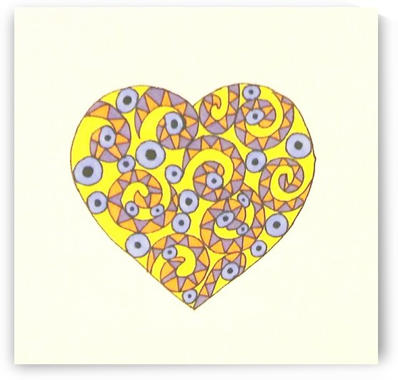 Gold Heart of Spots n Curls by SarahJo Hawes