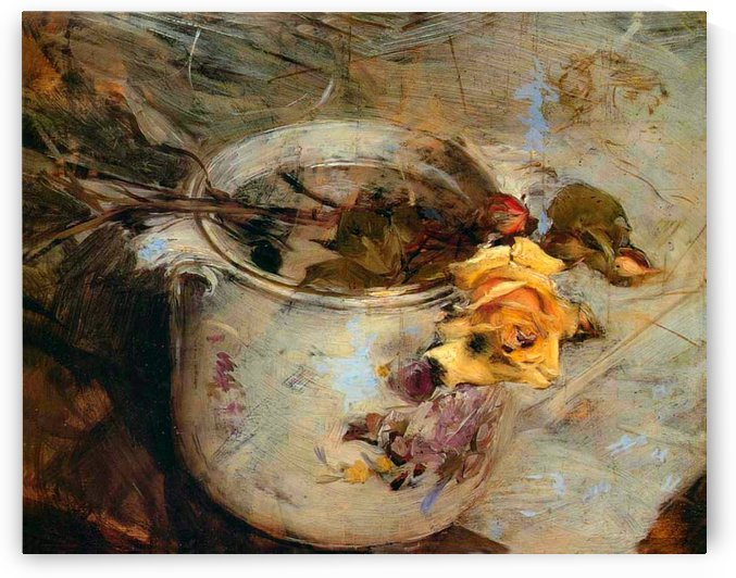 Still Life with Roses by Giovanni Boldini
