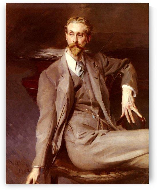 Portrait of the Artist Lawrence Alexander Harrison by Giovanni Boldini