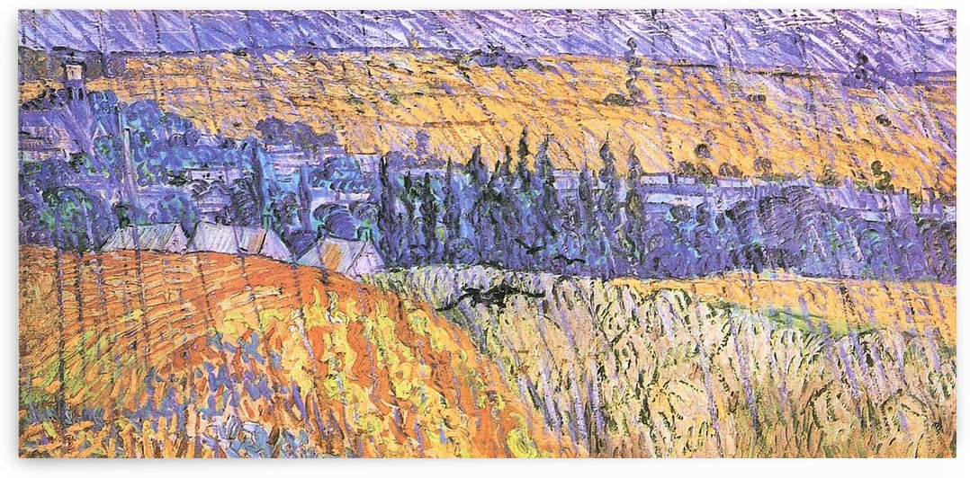 Landscape at Auvers in the Rain -1- by Van Gogh by Van Gogh