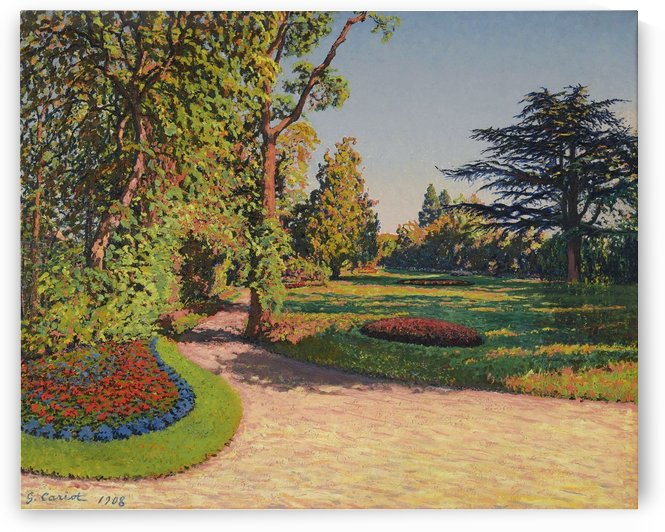 The Garden in Summer by Gustave Cariot