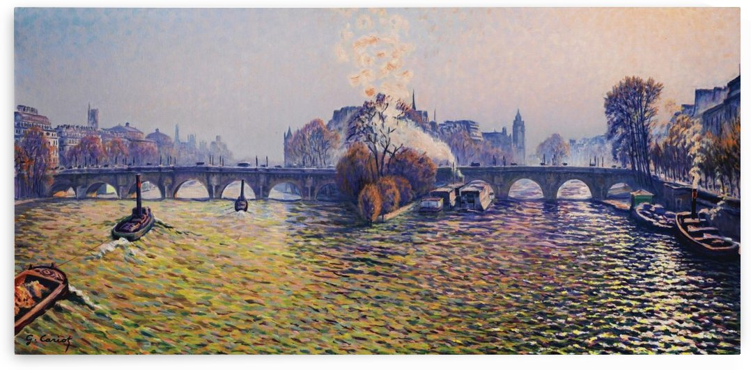 Pont Neuf, Aurora by Gustave Cariot