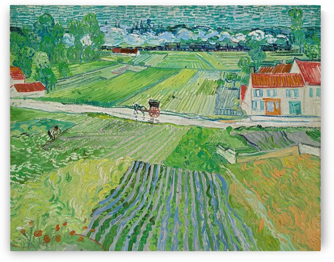 Landscape at Auvers in the Rain -2 by Van Gogh by Van Gogh