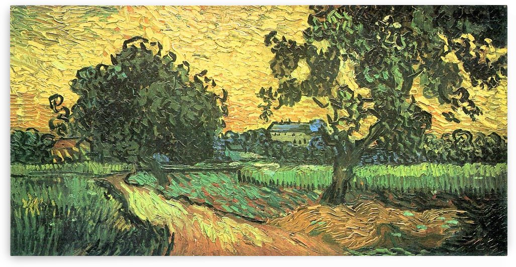 Landscape with Castle Auvers at Sunset by Van Gogh by Van Gogh