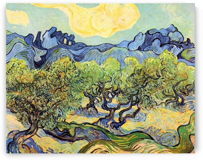 Landscape with olive Trees by Van Gogh by Van Gogh