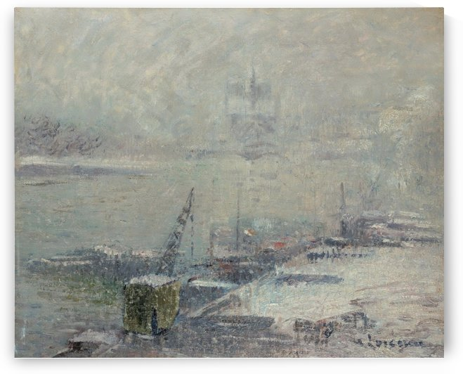 Notre Dame de Paris, View from Quay of Henri IV by Gustave Loiseau