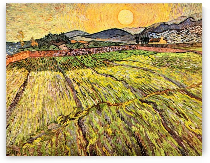 Landscape with plowed fields by Van Gogh by Van Gogh