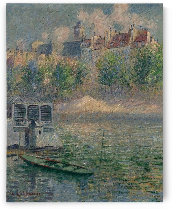 The Quay of Hotel-de-Ville, Paris by Gustave Loiseau