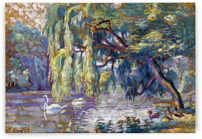 Swans Family (Forest of Boulogne) by Henri Edmond Cross