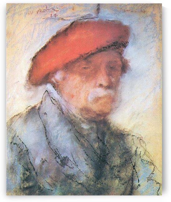 Last self portrait by Joseph Rippl-Ronai by Joseph Rippl-Ronai