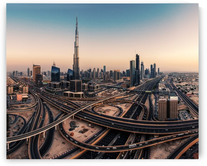 Dubai Skyline Panorama by 1x
