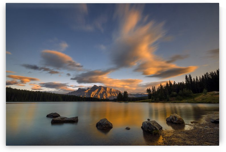 Two Jack Lake Sunset by 1x