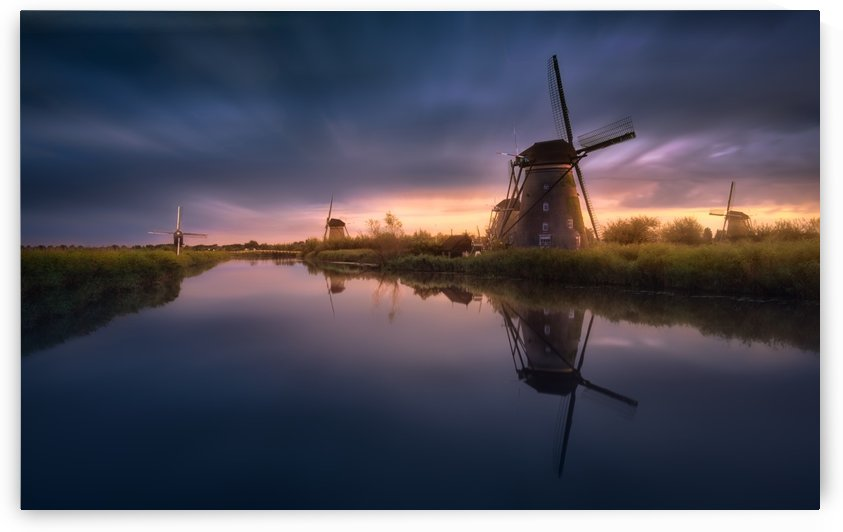 Kinderdijk Windmills by 1x