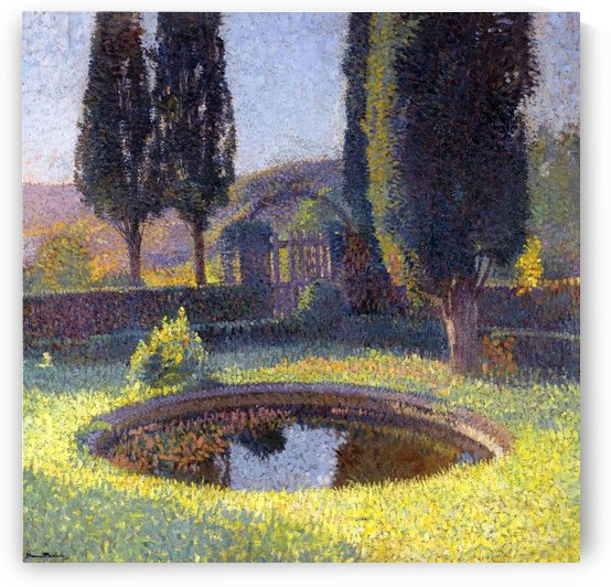 The Pool in the South - East from the Parc of Marquyarol by Henri Martin