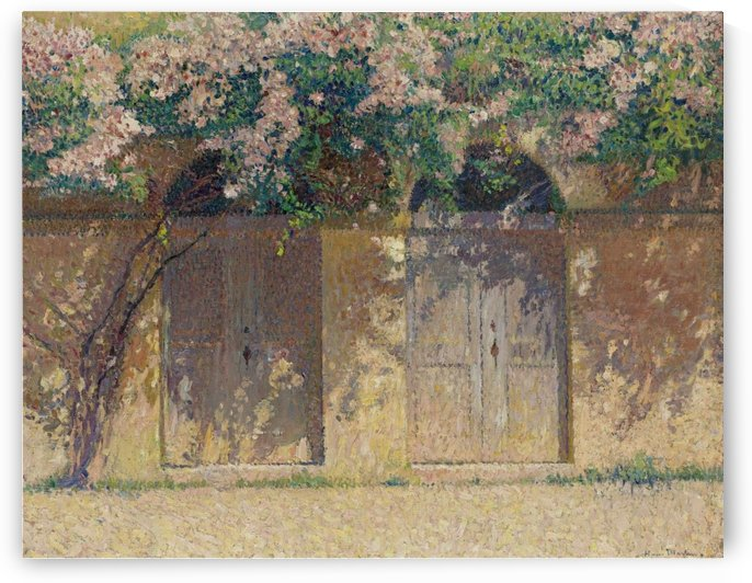 The Pair of Gates under the Dog-Rose in Bloom by Henri Martin