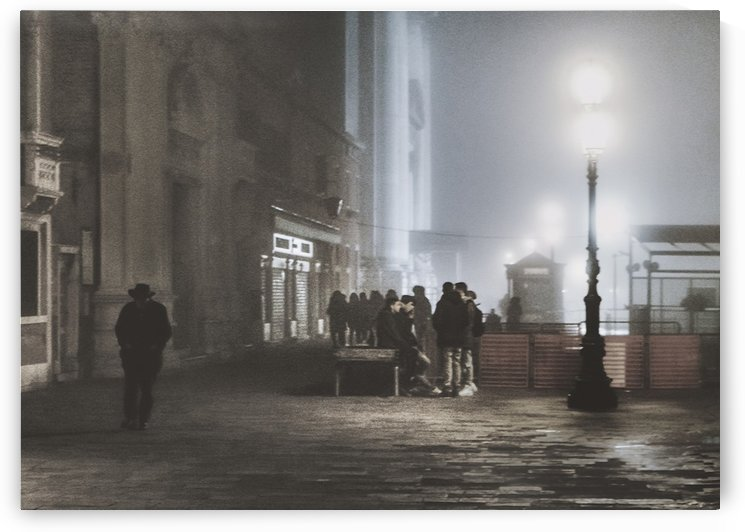 Venice Urban Night Scene by Daniel Ferreia Leites Ciccarino