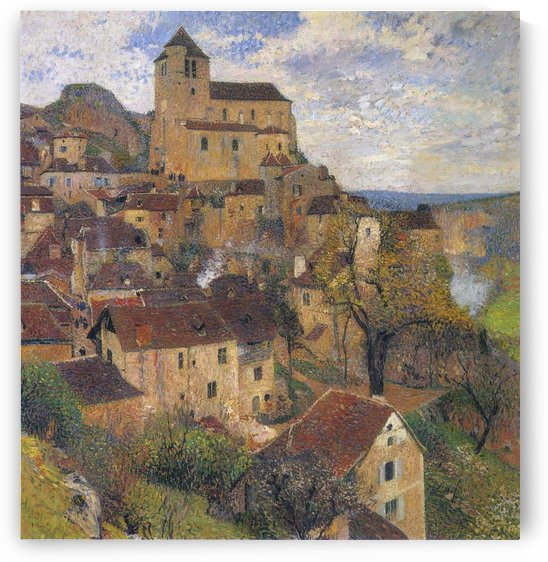The Village of Saint-Cirq-Lapopie by Henri Martin