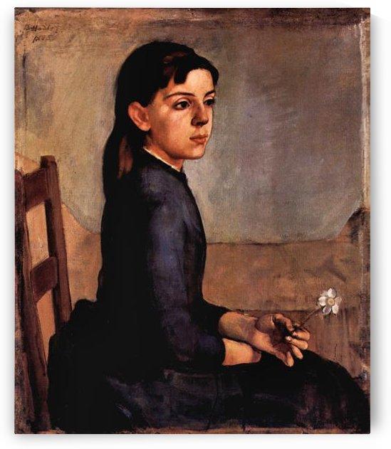 Louise-Delphine Duchosal by Ferdinand Hodler by Ferdinand Hodler