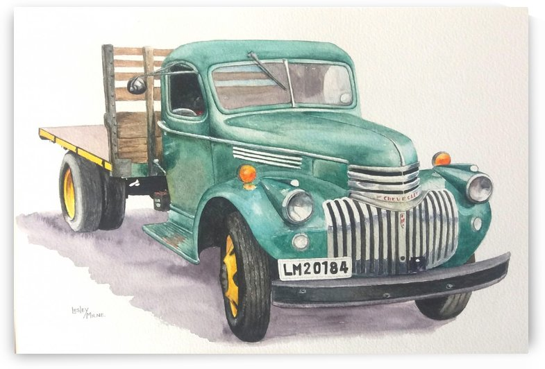Old Chevy by Lesley Milne