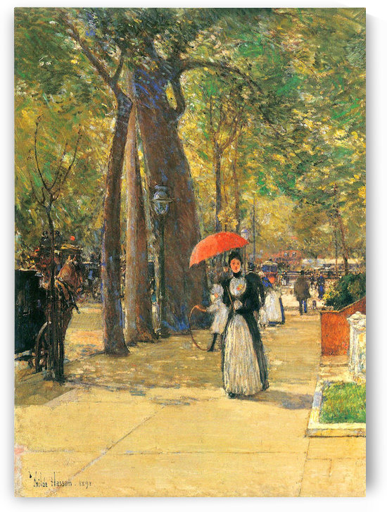 Fifth Avenue and Washington Square by Hassam by Hassam