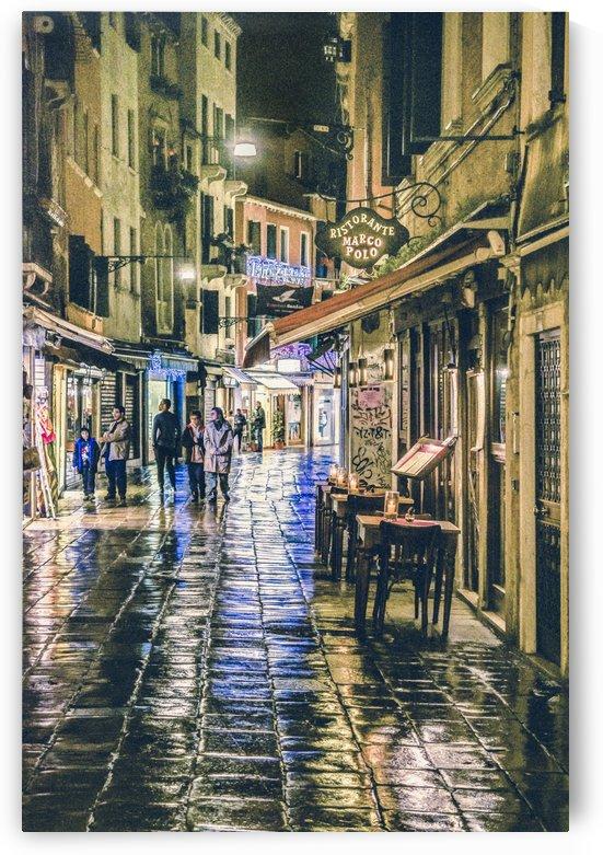 Rainy Night Urban Scene, Venice, Italy by Daniel Ferreia Leites Ciccarino