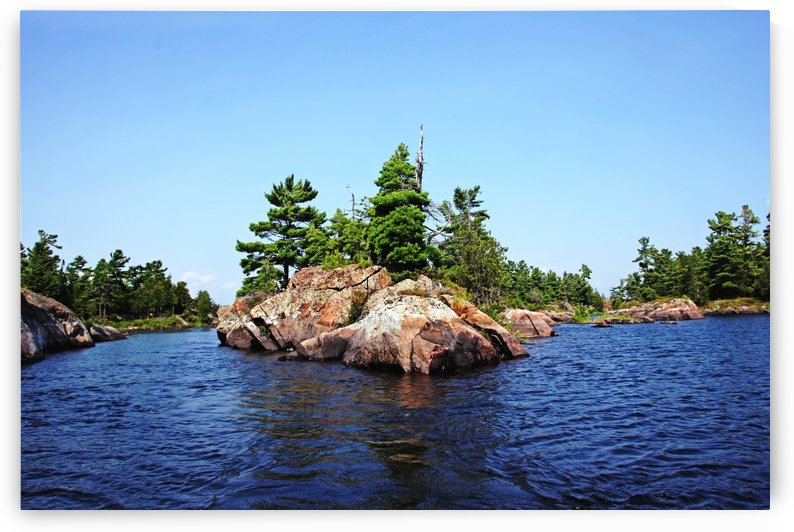 Islands In The Old Voyageur Channel  French River by Deb Oppermann