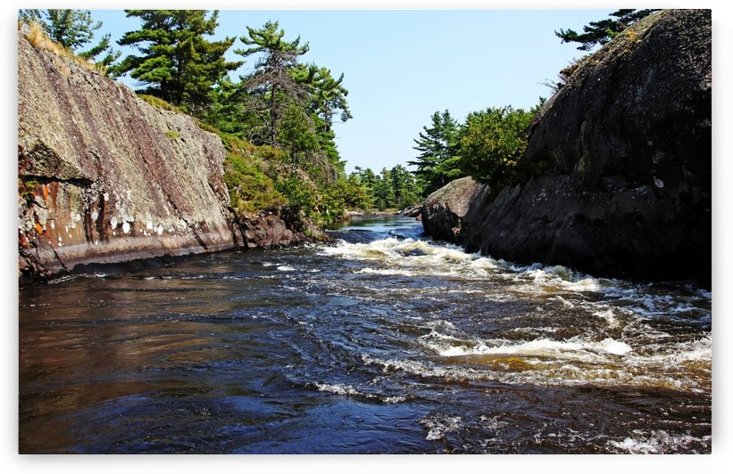 Lovers Leap Lower  French River by Deb Oppermann