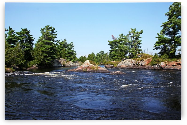 Lovers Rapids Lower French River I by Deb Oppermann