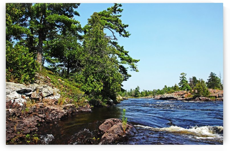 Rapids Lower French River IV by Deb Oppermann