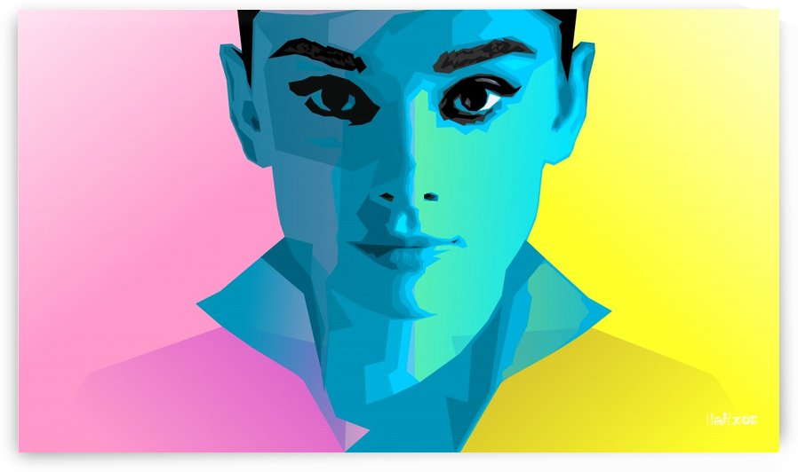 Pop Art Audrey Portrait by zelko radic bfvrp