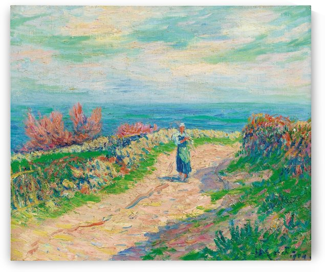 The Road near the Seascape by Henry Moret