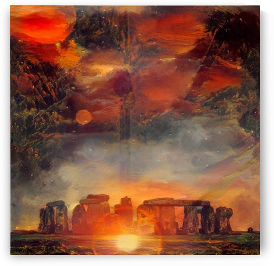 Surreal Stonehenge by Bruce Rolff
