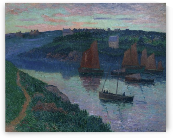 Fishing Boats in Bretagne by Henry Moret