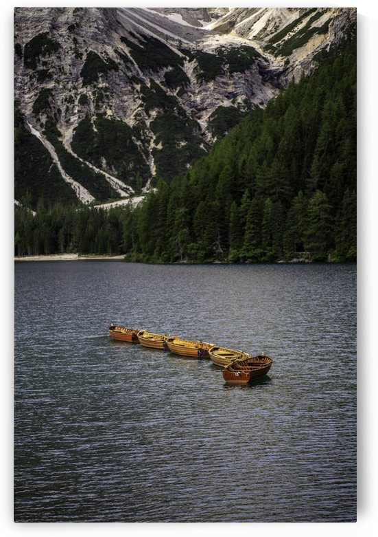 Boats on a lake by William Gillard